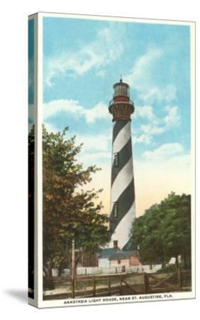 Anastasia Lighthouse, St. Augustine, Florida--Stretched Canvas Print