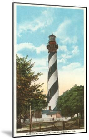 Anastasia Lighthouse, St. Augustine, Florida--Mounted Art Print