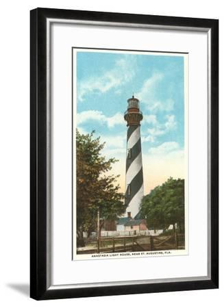 Anastasia Lighthouse, St. Augustine, Florida--Framed Art Print