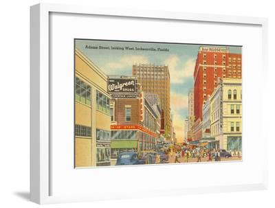 Adams Street, Jacksonville, Florida--Framed Art Print
