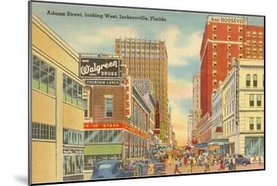 Adams Street, Jacksonville, Florida--Mounted Art Print