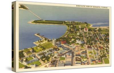 Aerial View of Sarasota, Florida--Stretched Canvas Print