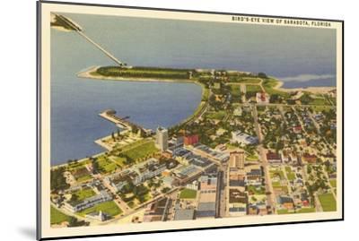Aerial View of Sarasota, Florida--Mounted Art Print