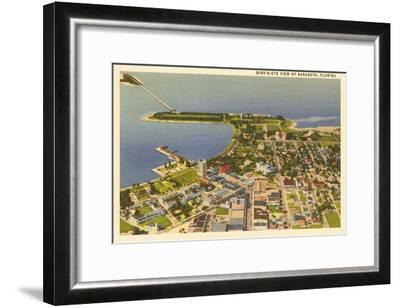 Aerial View of Sarasota, Florida--Framed Art Print