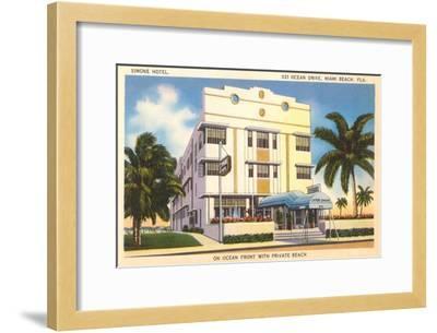 Simone Hotel, Miami Beach, Florida--Framed Art Print