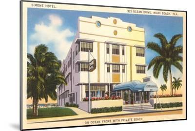 Simone Hotel, Miami Beach, Florida--Mounted Art Print