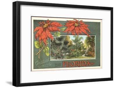 Christmas Greetings from Florida--Framed Art Print