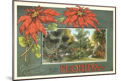 Christmas Greetings from Florida--Mounted Art Print