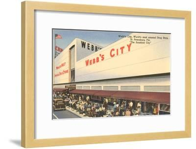 Webb's City Drug Store, St. Petersburg, Florida--Framed Art Print