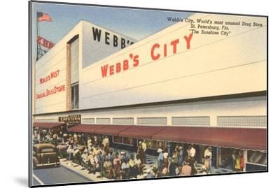 Webb's City Drug Store, St. Petersburg, Florida--Mounted Art Print