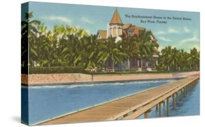 Southernmost House, Key West, Florida--Stretched Canvas Print
