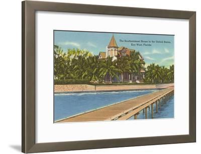 Southernmost House, Key West, Florida--Framed Art Print