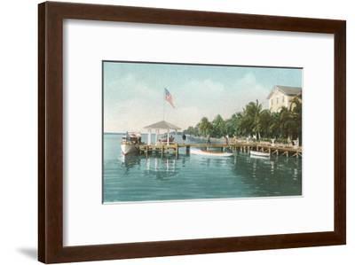 Boat Landing, Palm Beach, Florida--Framed Art Print