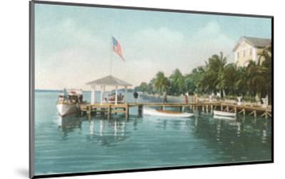 Boat Landing, Palm Beach, Florida--Mounted Art Print