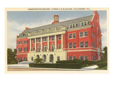 Florida A&M College, Tallahassee, Florida--Framed Art Print