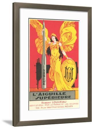 French Advertisement for Sewing Needle--Framed Art Print