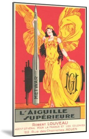 French Advertisement for Sewing Needle--Mounted Art Print