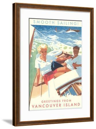 Smooth Sailing, Vancouver Island, Canada--Framed Art Print