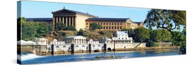 Art Museum at the Waterfront, Philadelphia Museum of Art, Schuylkill River, Philadelphia--Stretched Canvas Print