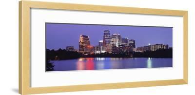 Us, Texas, Austin, Skyline, Night--Framed Photographic Print