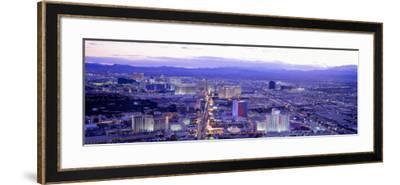 Dusk the Strip Las Vegas Nv, USA--Framed Photographic Print