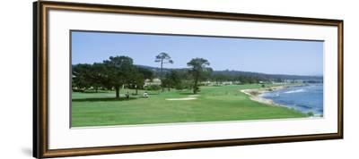 Pebble Beach Golf Course Ca, USA--Framed Photographic Print