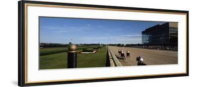 Four People Participating in a Horse Race, Calder Race Course, Miami Gardens, Miami-Dade County--Framed Photographic Print