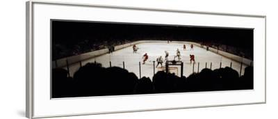 Group of People Playing Ice Hockey, Chicago, Illinois, USA--Framed Photographic Print