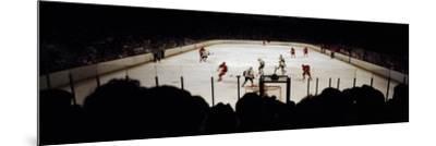 Group of People Playing Ice Hockey, Chicago, Illinois, USA--Mounted Photographic Print
