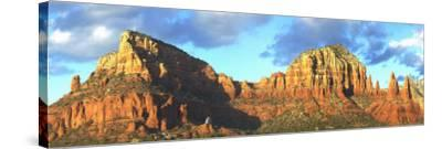 Chapel on Rock Formations, Chapel of the Holy Cross, Sedona, Arizona, USA--Stretched Canvas Print