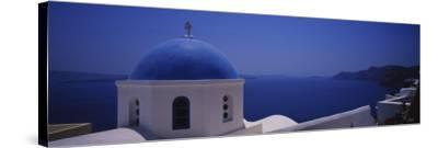 High Section View of a Church, Oia, Santorini, Greece--Stretched Canvas Print