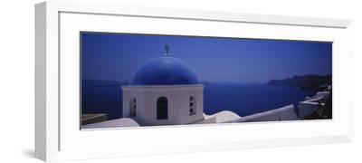 High Section View of a Church, Oia, Santorini, Greece--Framed Photographic Print