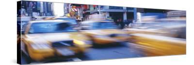 Yellow Taxis on the Road, Times Square, Manhattan, New York City, New York State, USA--Stretched Canvas Print