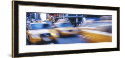 Yellow Taxis on the Road, Times Square, Manhattan, New York City, New York State, USA--Framed Photographic Print