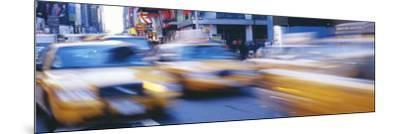 Yellow Taxis on the Road, Times Square, Manhattan, New York City, New York State, USA--Mounted Photographic Print