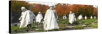 Statues of Army Soldiers in a Park, Korean War Memorial, Washington DC, USA--Stretched Canvas Print