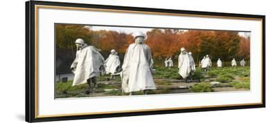 Statues of Army Soldiers in a Park, Korean War Memorial, Washington DC, USA--Framed Photographic Print