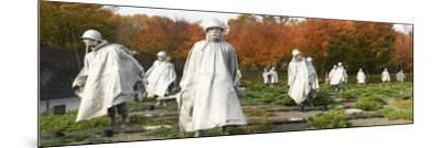 Statues of Army Soldiers in a Park, Korean War Memorial, Washington DC, USA--Mounted Photographic Print