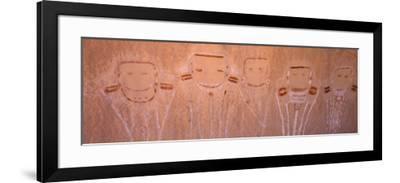 Pictographs on Rock Face, Canyonlands National Park, San Juan County, Utah, USA--Framed Photographic Print