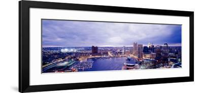 Maryland, Baltimore, Cityscape--Framed Photographic Print