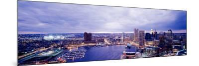 Maryland, Baltimore, Cityscape--Mounted Photographic Print