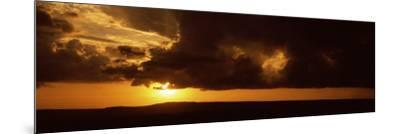 Sunset over a Landscape, Masai Mara National Reserve, Kenya--Mounted Photographic Print