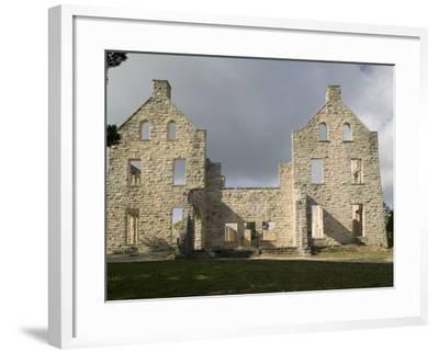 Facade of an Old Building, Ha-Ha-Tonka Castle, Ha-Ha-Tonka State Park, Camdenton, Missouri, USA--Framed Photographic Print