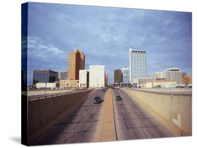 Cars on a Highway, Midland, Midland County, Texas, USA--Stretched Canvas Print