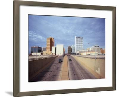 Cars on a Highway, Midland, Midland County, Texas, USA--Framed Photographic Print
