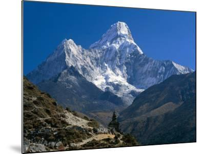 Nepal, Ama Dablam Trail, Temple in the Extreme Terrain of the Mountains--Mounted Photographic Print