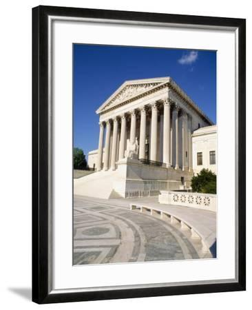 Low Angle View of a Government Building, Us Supreme Court Building, Washington DC, USA--Framed Photographic Print