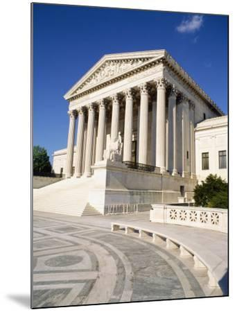 Low Angle View of a Government Building, Us Supreme Court Building, Washington DC, USA--Mounted Photographic Print