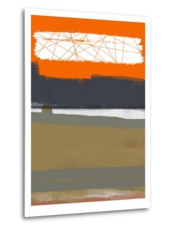 Abstract Orange 1-NaxArt-Metal Print