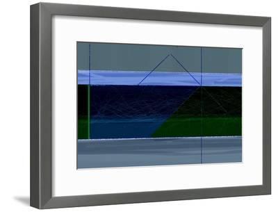 Blue and Green-NaxArt-Framed Art Print